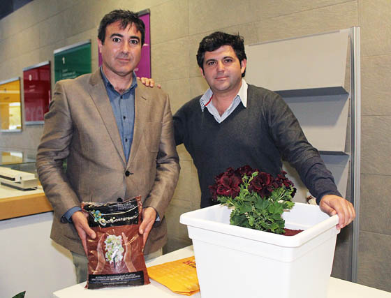 Marcos Dorado y Jesús Gil, de Compostgreen.  Foto: Victoria Ramírez