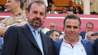 Ángel Torres (izquierda), presidente del Getafe.  Foto: Victoria Ramírez