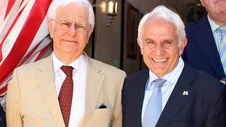 José Luis Sánchez Domínguez, presidente de Sando, y Antonio Pascual, presidente de la Academia de Ciencias Sociales y del Medio Ambiente de Andalucía.  Foto: Victoria Ramirez