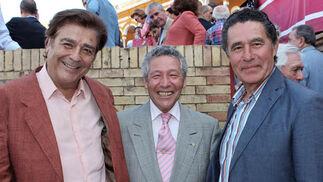 Los toreros Máximo Valverde, Rafael Torres y José Antonio Campuzano.  Foto: Victoria Ramírez