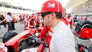 Alonso, antes de empezar la carrera. / EFE