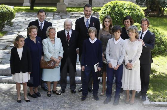 Foto de familia con los príncipes y el presidente del Gobierno. / José Ramón Ladra