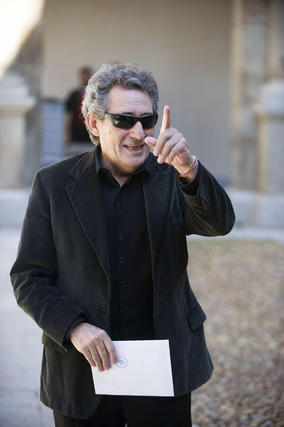 Miguel Ríos, a su llegada al acto. / EFE