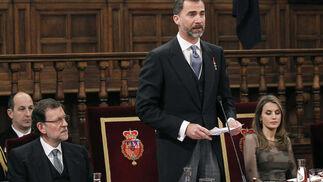 El Príncipe Felipe, durante su intervención. / EFE