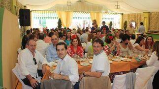 Almuerzo celebrado en la caseta Revuelo de los funcionarios de los distintos juzgados de El Puerto de Santa María.