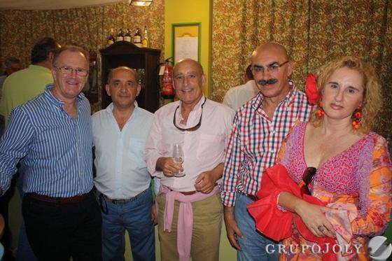 Paco Caro, Manolo Herrera, de Supima, Inma Macías, Antonio García, de Halcón Courier, y Andrés Rodríguez, de La Duquesa.