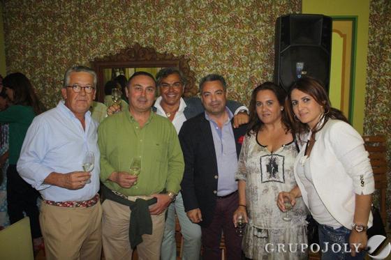 Vicente González, Ángel Carrero, Ricardo Muñoz, Cristóbal León, Paola Copano y Ana Belén Parra.  Foto: Diario de Cádiz