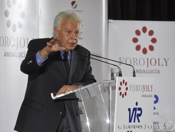 Felipe González, ex presidente del Gobierno.   Foto: Juan Carlos Vázquez / Belén Vargas/ Manuel Gómez