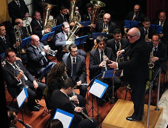 Un momento de la actuación de la Banda de Música del Maestro Tejera, dirigida por Manuel Hidalgo.  Foto: Victoria Ramírez