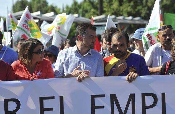 Manifestación del Primero de Mayo en Córdoba.  Foto: EFE
