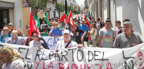 Manifestación del Primero de Mayo en Jerez