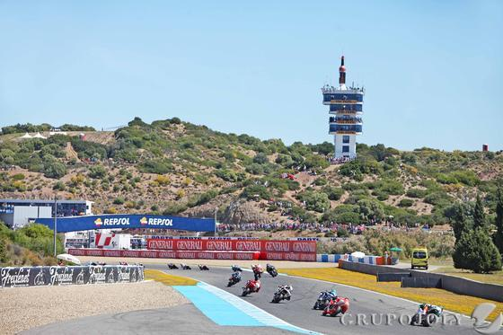 Carrera de Moto2.  Foto: Manuel Aranda