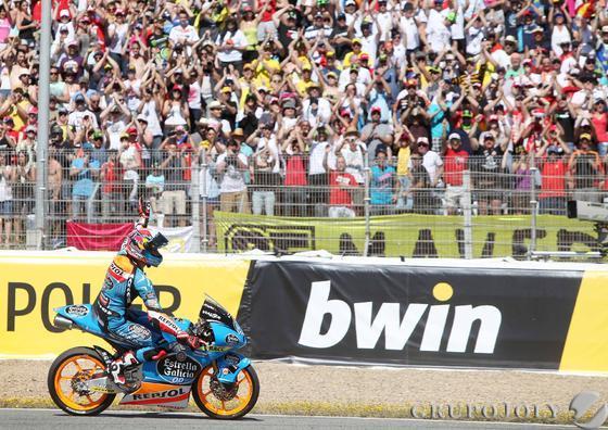 Carrera de Moto3.  Foto: Manuel Aranda