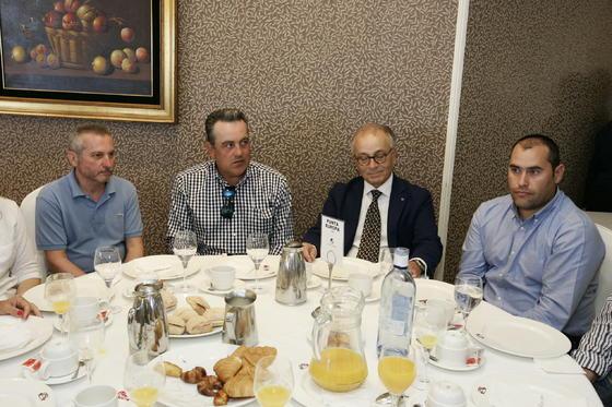 Jaime Antequera, Juan Jiménez, Francisco Manzano y Manuel Manzano  Foto: Javier Alonso / Rafael G.