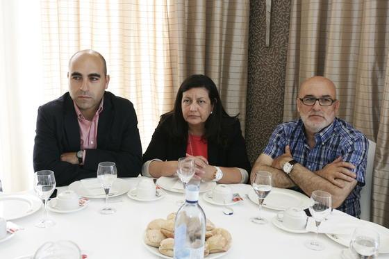 Antonio Mena, Basilia Ibáñez y Juan Ortiz  Foto: Javier Alonso / Rafael G.