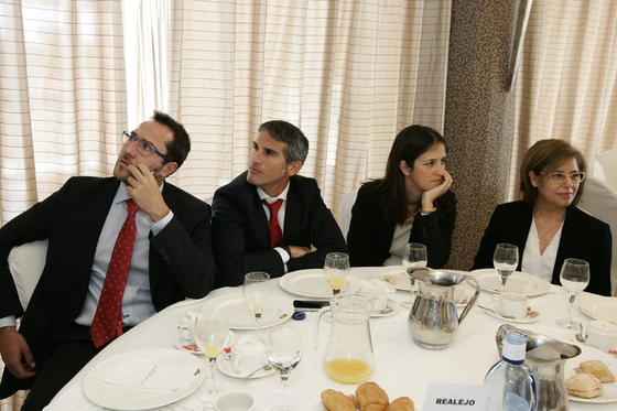 Juan Antonio Luque, José Alberto Vaquero, Cristina Sánchez y Mª Dolores Barranco  Foto: Javier Alonso / Rafael G.