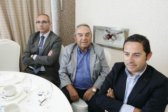 Florencio López, Emilio Martínez Aguado y Emilio Martínez Llamas  Foto: Javier Alonso / Rafael G.
