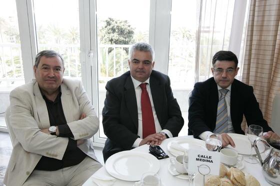 Miguel Reche, Juan Francisco Hernández y Enrique Marín  Foto: Javier Alonso / Rafael G.