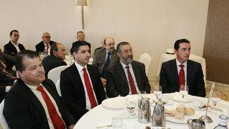 Pedro López, Francisco Torrecillas, Narciso Delgado y Miguel Martínez  Foto: Javier Alonso / Rafael G.
