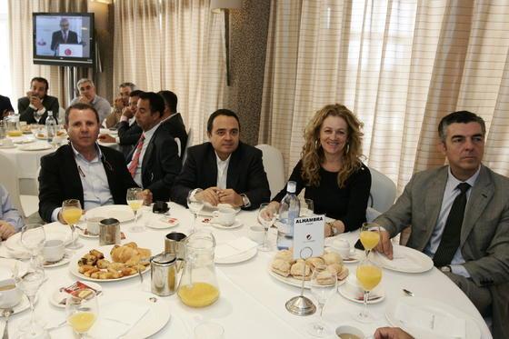 Jerónimo Parra, Francisco Iglesias, María Zamora y Antonio López  Foto: Javier Alonso / Rafael G.