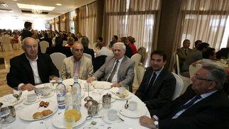 José Antonio Picón, José Rico, Francisco Martínez, Francisco Alvarez y Miguel Álvarez  Foto: Javier Alonso / Rafael G.