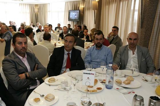 José Mnauel Rodríguez, Luis Sanz, Antonio Luque y Matías Segura  Foto: Javier Alonso / Rafael G.
