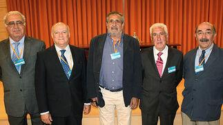 Juan Francisco Acedo, Pedro de Rojas, José Manuel Neira, Manuel Sánchez y Fernando Loring.  Foto: Victoria Ramírez