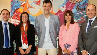Borja López, Paloma González, Luis Navarro, Mercedes Poceiro y José Carlos Gabarrón, integrantes del equipo de Conversalia.  Foto: Victoria Ramírez