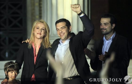 Tsipras celebrando los resultados  Foto: EFE
