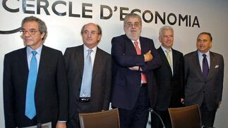 César Alierta, Antonio Brufau y José Manuel Lara./ Juan Carlos Vázquez