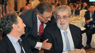 Con el alcalde de Sevilla, Juan Ignacio Zoido./ Juan Carlos Vázquez