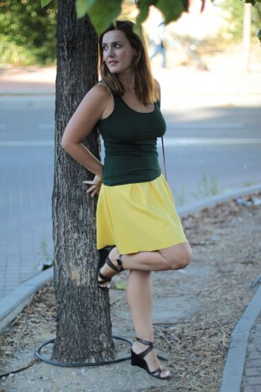 Mi falda amarilla - Outfit