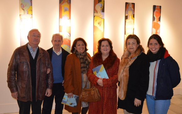 Julián González, José Luis García Zaragoza, Ángeles Olmo, Anamaría Asencio, Mercedes Navarro y Mercedes Gamboa.  Foto: Ignacio Casas de Ciria
