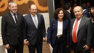 Francisco Álvarez de la Chica, Sebastián Pérez, Pilar Aranda y José Torres Hurtado. Reportaje gráfico: María de la Cruz / Álex Cámara