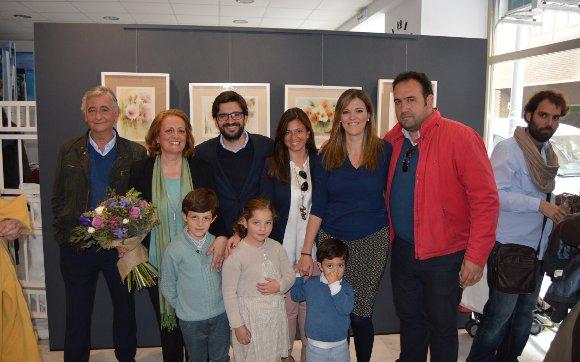 José María Sanlés, Rosa Quintero, José María y Carmen Sanlés, Juan Manuel Pérez y Lourdes López.  Foto: Ignacio Casas de Ciria