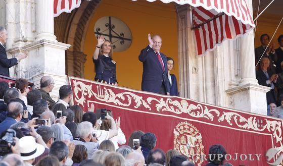 El rey Juan Carlos, en el palco  Foto: A. Pizarro