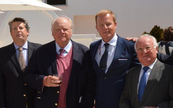 Alfonso Domecq, Jan y Stephan de Clerck y Fernando Lepiani.  Foto: Ignacio Casas de Ciria