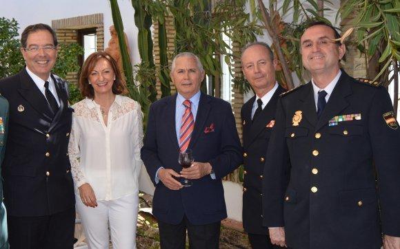 Francisco Javier Franco, Cruz Agrelo, Titino González-Aller, Santiago Gómez y Antonio Ramírez.  Foto: Ignacio Casas de Ciria