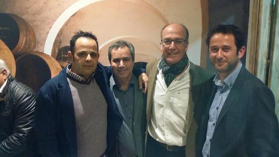 Los propietarios David Cabrera, Antonio Fernández, Chico Salas y Juan Curiel.  Foto: Ignacio Casas de Ciria