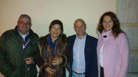José Ramón Ferrera, Violeta Romero, Quique del Águila y Lucía de la Fuente.  Foto: Ignacio Casas de Ciria
