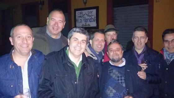 Manuel Mena, José Ramón Cue, Lorenzo Braojo, Francisco Cama, Manuel Grijuela, Manuel Mato y Francisco Muñoz.  Foto: Ignacio Casas de Ciria