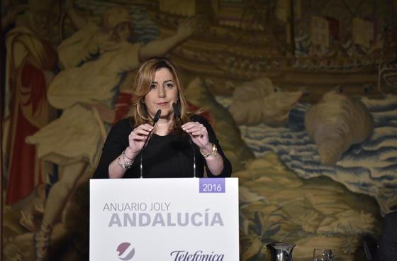 LA presidenta de la Junta de Andalucía, Susana Díaz.  Foto: Juan Carlos V?uez / Victoria Hidalgo