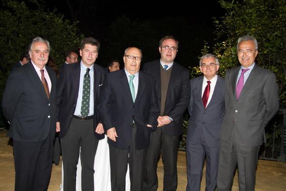 Ismael Yebra, Eduardo Osborne, Luis Carlos Peris, Carlos Navarro Antolín, José Joaquín León y Pablo Gutiérrez-Alviz.  Foto: Juan Carlos V?uez / Victoria Hidalgo