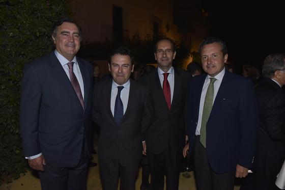 José Estévez, Luis Bolaños, Alberto Delgado y Gonzalo Madariaga.  Foto: Juan Carlos V?uez / Victoria Hidalgo
