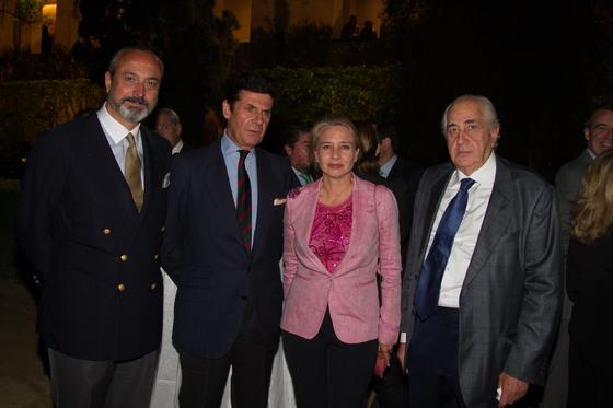 José Ramón Fernández de Mesa, Manuel Laffón, Almudena de Arteaga y Enrique Ruiz.  Foto: Juan Carlos V?uez / Victoria Hidalgo