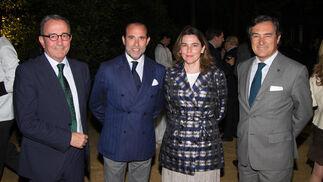 Juan Gómez de Salazar, Modesto Cabezas, Isabel Liñán y Jerónimo Cejudo.  Foto: Juan Carlos V?uez / Victoria Hidalgo