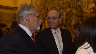 Jesús Maeztu, con Juan Pablo Durán.  Foto: Juan Carlos V?uez / Victoria Hidalgo