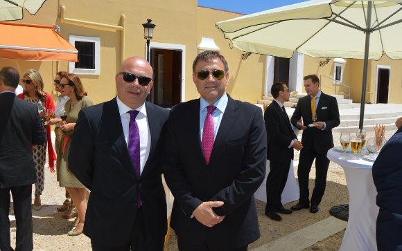 David Navarro con Alfonso Rodríguez Castillo.  Foto: Ignacio Casas de Ciria