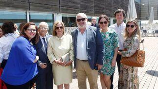 Blanca Pérez, Idelfonso  Marqués, Isabel García, Luis Pérez, María Pérez, Paco Ramírez y Reyes Gamiz.  Foto: Ignacio Casas de Ciria