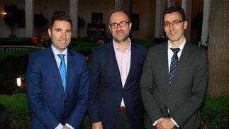 Aurelio Trujillo Ruiz, César Gallardo Soler y Joaquín Segovia Alonso. / Fotos: Juan Carlos Muñoz y Victoria Hidalgo